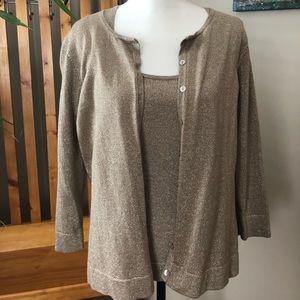 August Silk Cardigan 2pc Sweater Set!
